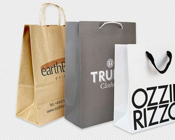 Paper bags in different colours