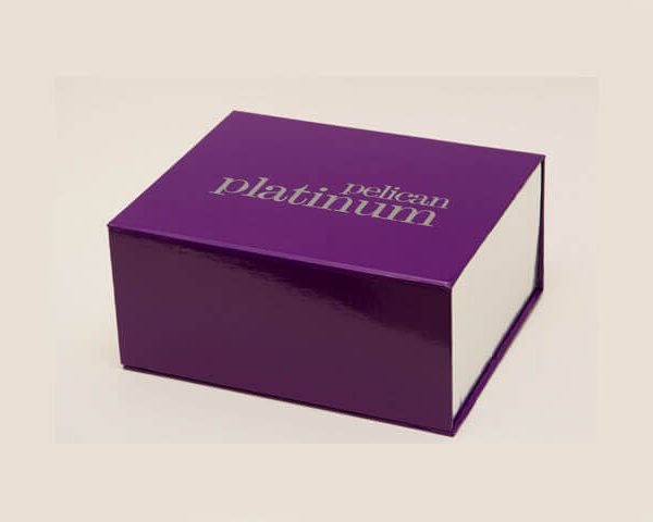 Purple magnetic gift box