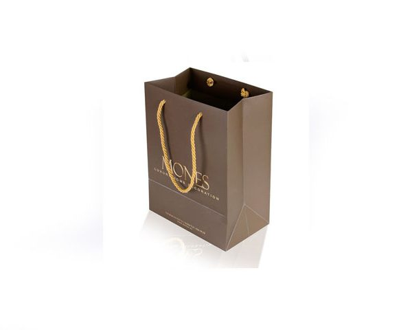Gold rope handled luxury paper bag Istanbul Turkey