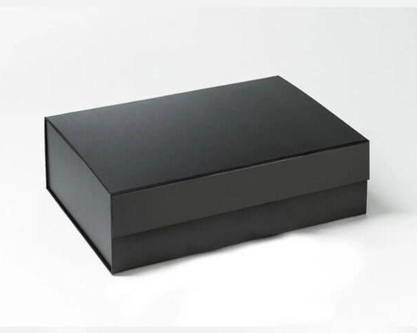 Matt laminated black magnetic gift box