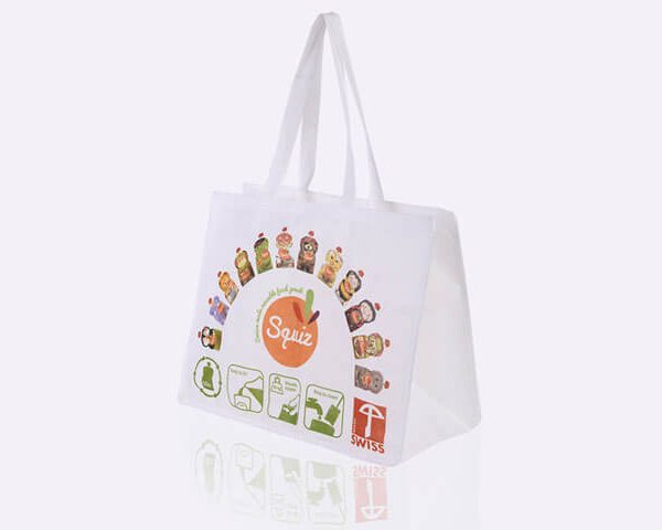 Full colour offset printed non-woven pp tote bag